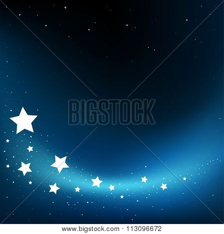 fly stars background