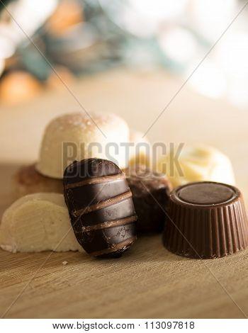 Luxury chocolate bonbons