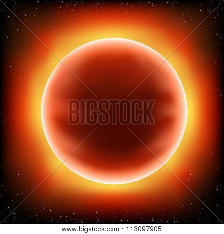 red sun space