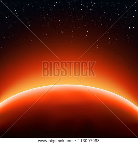 sun space background