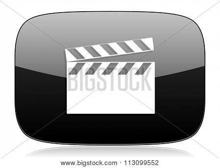 video black glossy web modern icon