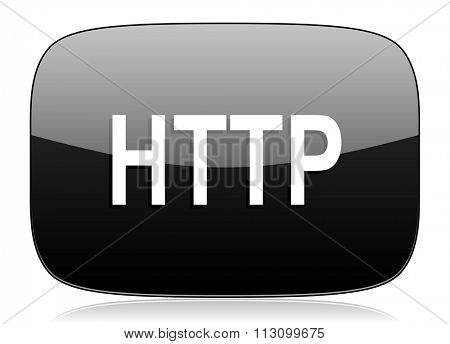 http black glossy web modern icon