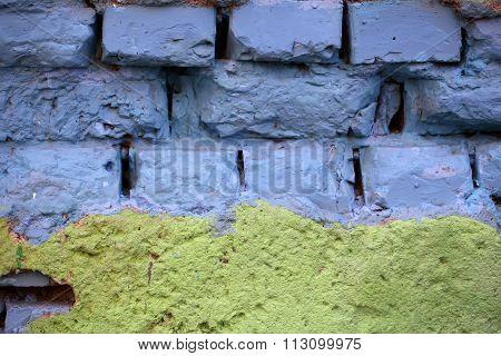 Empty Brick Wall Background