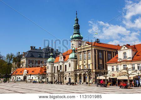 Pszczyna, Poland - April 21, 2015: Historical Center Of Pszczyna In Silesia Region, Poland