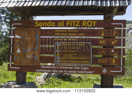 Map To  Hiking Fitz Roy, Patagonia, Argentina