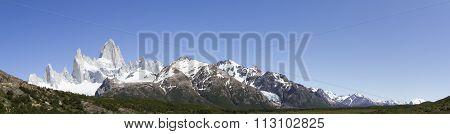 Panorama Mt Fitzroy, Los Glaciares National Park, Argentina