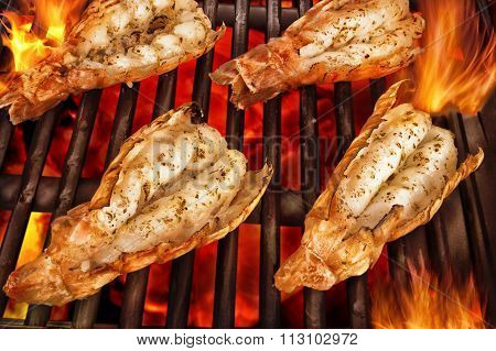 Scampi On Grill