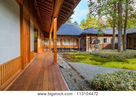 NIKKO JAPAN - NOVEMBER 16 2015: Tamozawa Imperial Villa first built in Tokyo in 1632. It was deconstructed and moved to the present location in Nikko in 1898