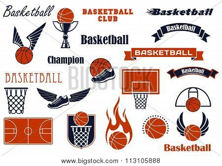 Basketball sport game and design elements