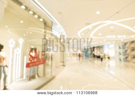 Department Store Blur Background With Bokeh