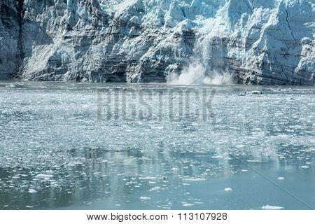 Calving Alaskan Glacier