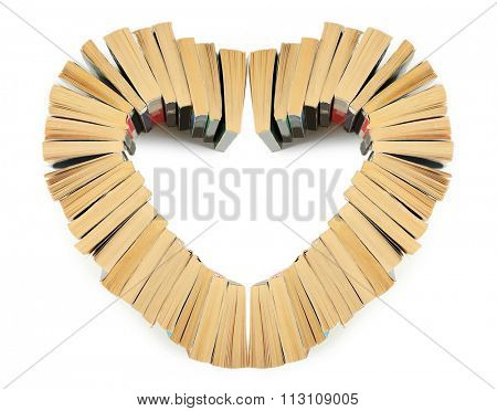 Part of heart made with books