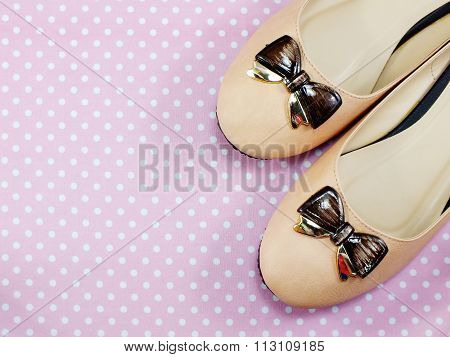 Female Shoes On A Low Heel