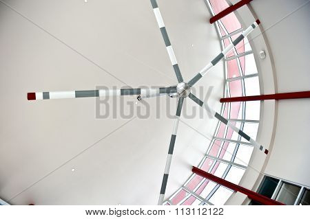 Helicopter Blade Indoors