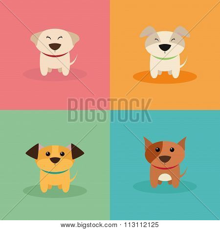 Cute Cartoon Dogs