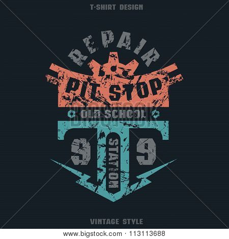 Pit Stop Badge With Texture