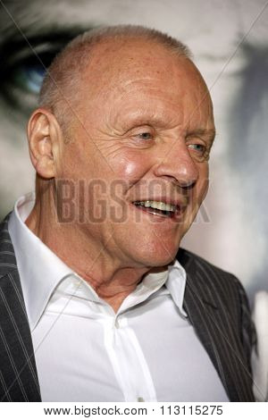 Sir Anthony Hopkins at the Los Angeles Premiere of