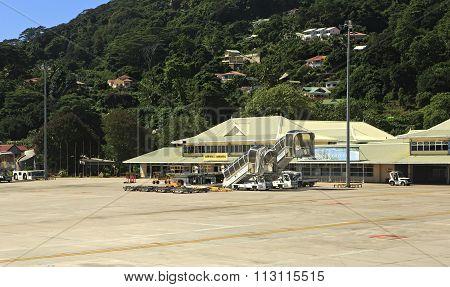 Seychelles International Airport on the Mahe Island.