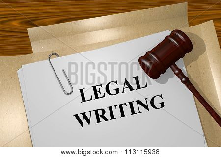 Legal Writing Concept
