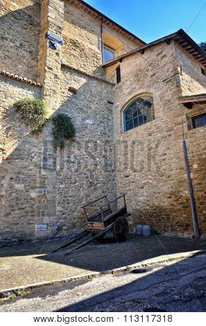 Bevagna, medieval walled town, Umbria region, Italy