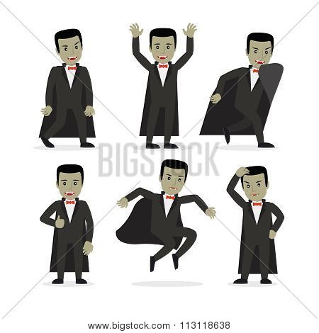 Dracula vampire cartoon character vector