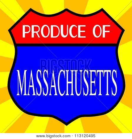 Produce Of Massachusetts Shield