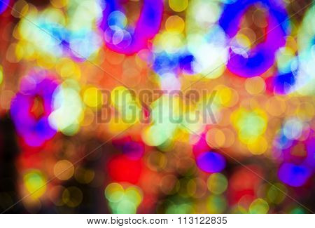 Abstract colorful blur de focused background black, soft focus