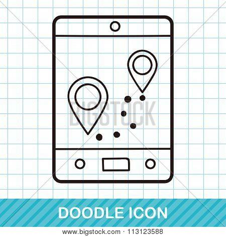 Cellphone Map Doodle