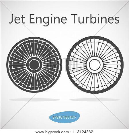 Jet Engine Turbine Front View