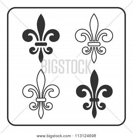 Fleur De Lis Symbol Set