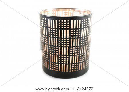 Decorative candlestick, isolated on white