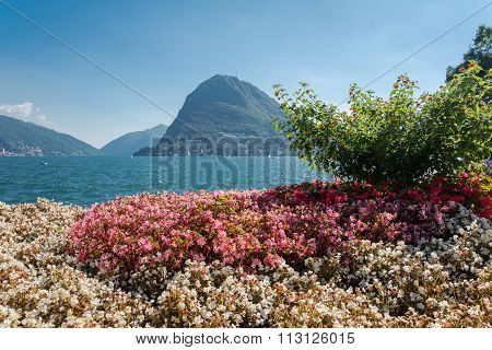 View Of Mount St. Salvatore Near The Lake Of Lugano