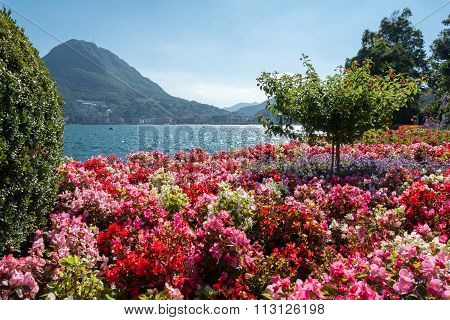 View Of Mount St. Salvatore And Lake Of Lugano