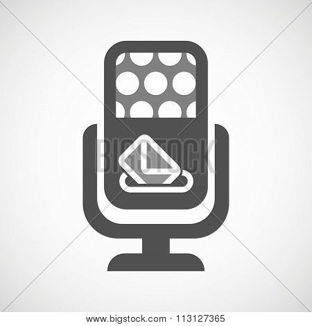 Isolated Microphone Icon With  A Ballot Box