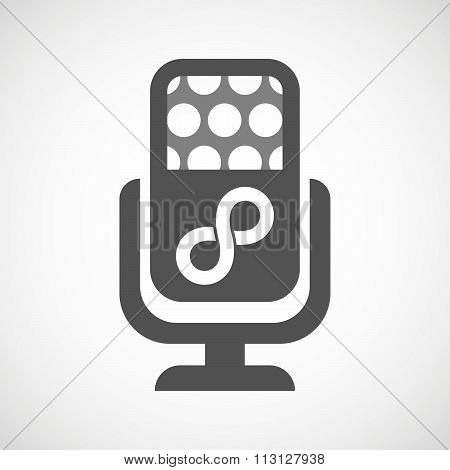 Isolated Microphone Icon With An Infinite Sign
