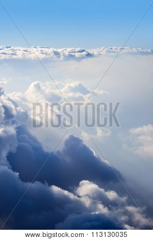 Cumulus Clouds Are Located At Different Heights.