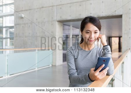 Woman look at the cellphone