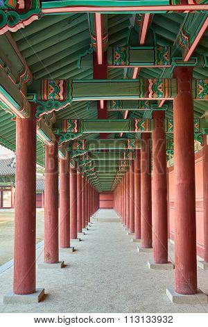 Wooden Pillars In A Row