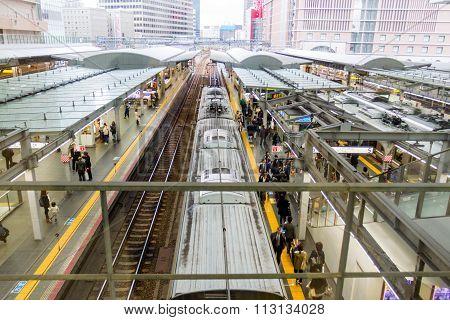 Train in Osaka railway Station