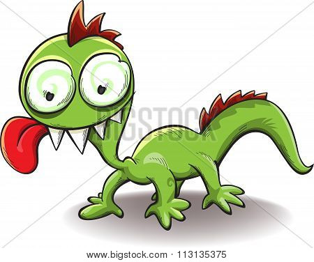 Comical Dragon With Tongue Hanging Out