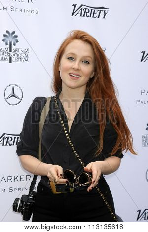 PALM SPRINGS - JAN 3:  Elizabeth Wood at the Variety Creative Impact Awards And 10 Directors To Watch Brunch at the The Parker Hotel on January 3, 2016 in Palm Springs, CA
