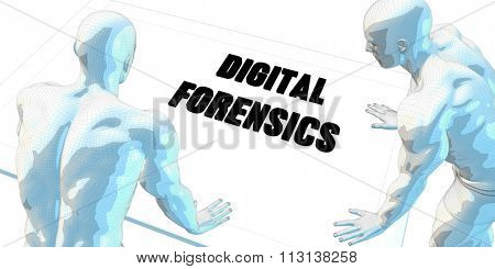 Digital Forensics Discussion and Business Meeting Concept Art
