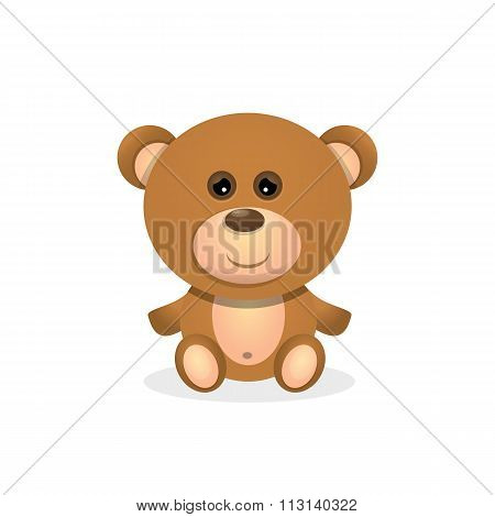 vector Teddy bear isolated on white background.