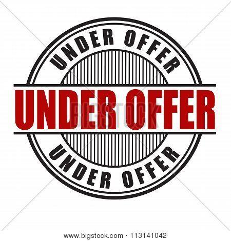 Under Offer Stamp