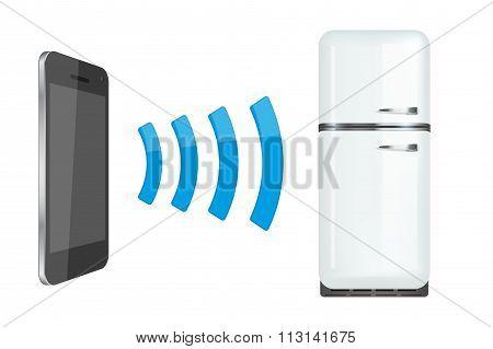 remote control fridge or home appliances via smartphone