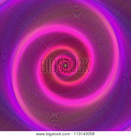 Pink neon light spiral design background