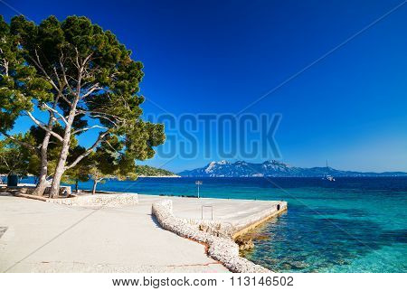 Stone Pier Near The Beach Cala Pi De La Posada