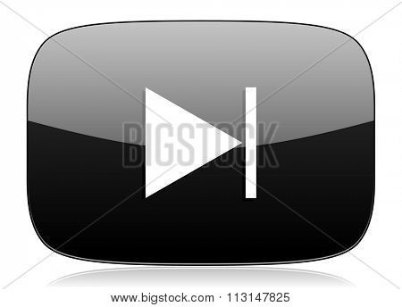 next black glossy web modern icon