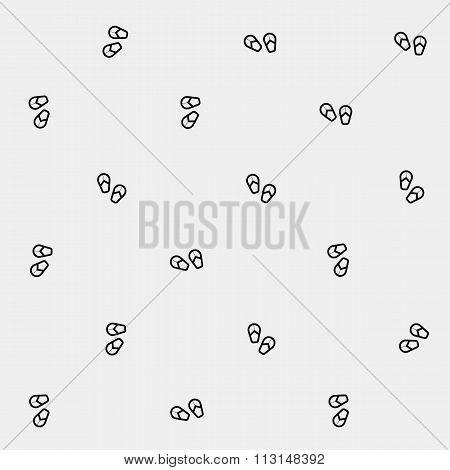 Geometric simple monochrome minimalistic vector holiday pattern, flip flops