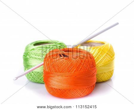 Crochet color threads